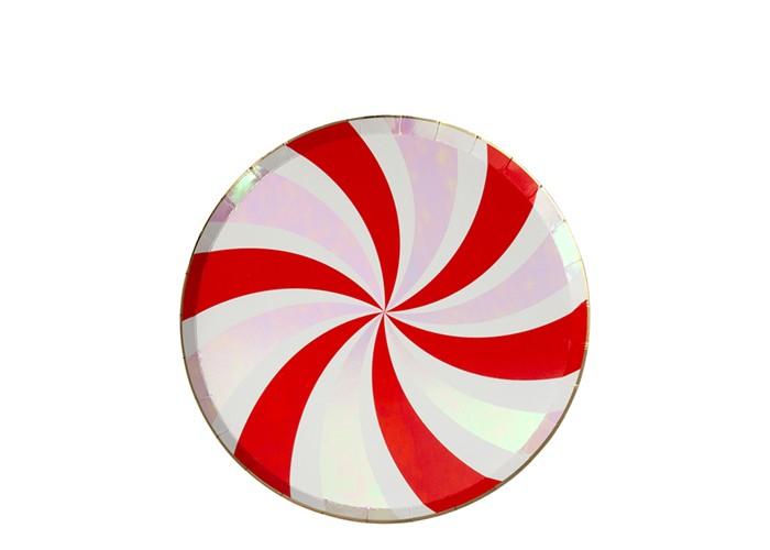 Товары для праздника MeriMeri Тарелки плоские Мятный вихрь 241х241 мм