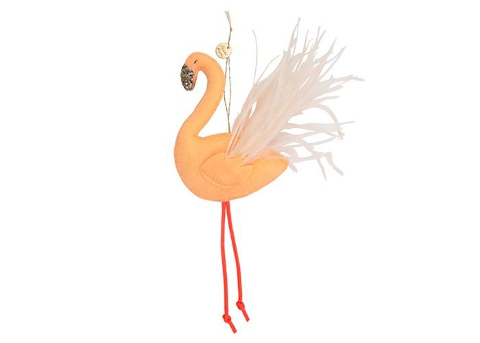 Новогодние украшения MeriMeri Ёлочное украшение Фламинго