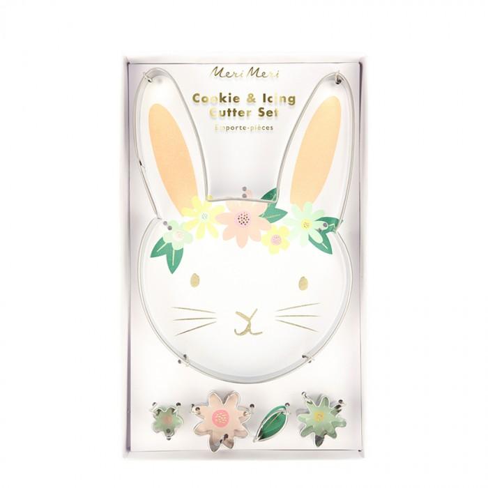 Выпечка и приготовление MeriMeri Формочки для печенья Кролик с цветами