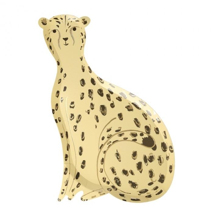 Купить Товары для праздника, MeriMeri Тарелки Сафари с леопардовым принтом 165x254 мм 8 шт.