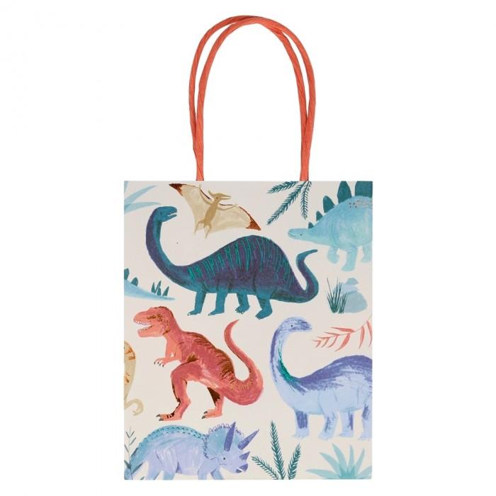Картинка для Товары для праздника MeriMeri Пакеты для подарков Динозавр 8 шт.