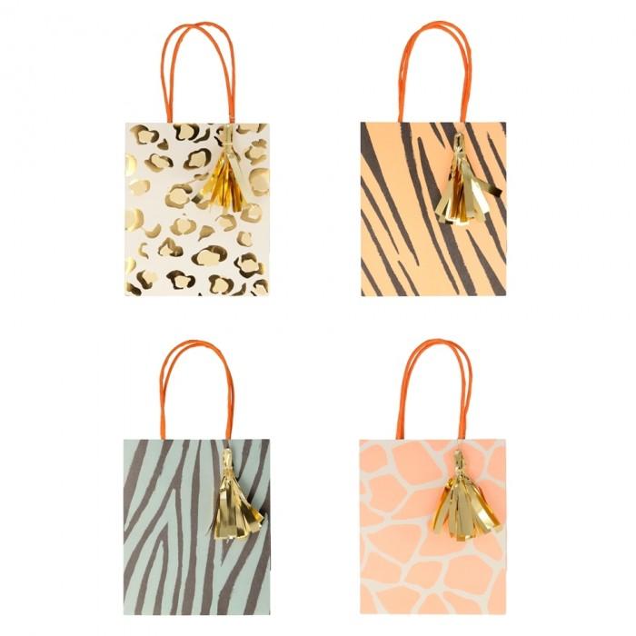 Товары для праздника MeriMeri Пакет для подарков с принтом Сафари 8 шт.
