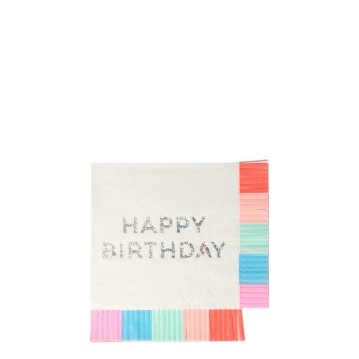 Товары для праздника MeriMeri Салфетки День рождения 127x127 16 шт. недорого