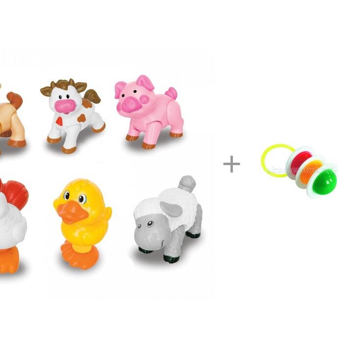 Картинка для Развивающие игрушки Kiddieland Домашние животные и Погремушка Светофор