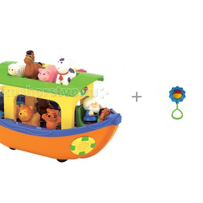 Картинка для Развивающие игрушки Kiddieland Ноев ковчег и Погремушка Василёк