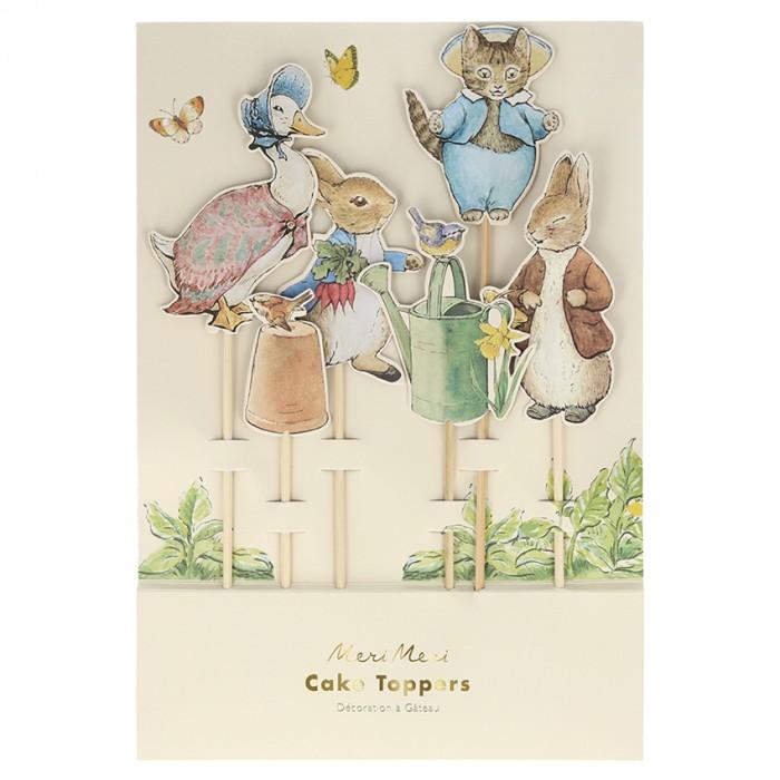 Товары для праздника MeriMeri Топперы для торта Кролик Питер