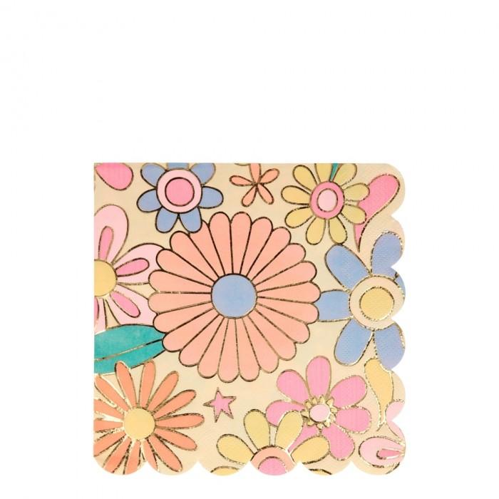 Товары для праздника MeriMeri Салфетки Цветное настроение 165x165 мм 16 шт. недорого
