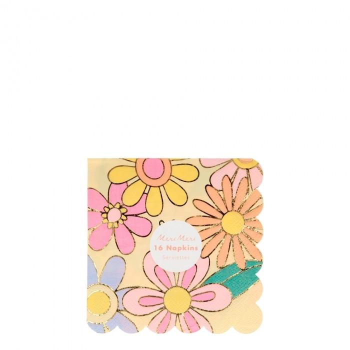 Товары для праздника MeriMeri Салфетки Цветное настроение 127x127 мм 16 шт. недорого