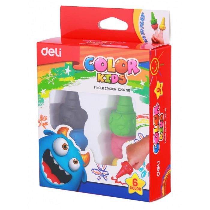 Карандаши, восковые мелки, пастель Deli Восковые мелки пальчиковые Color Kids 6 цветов