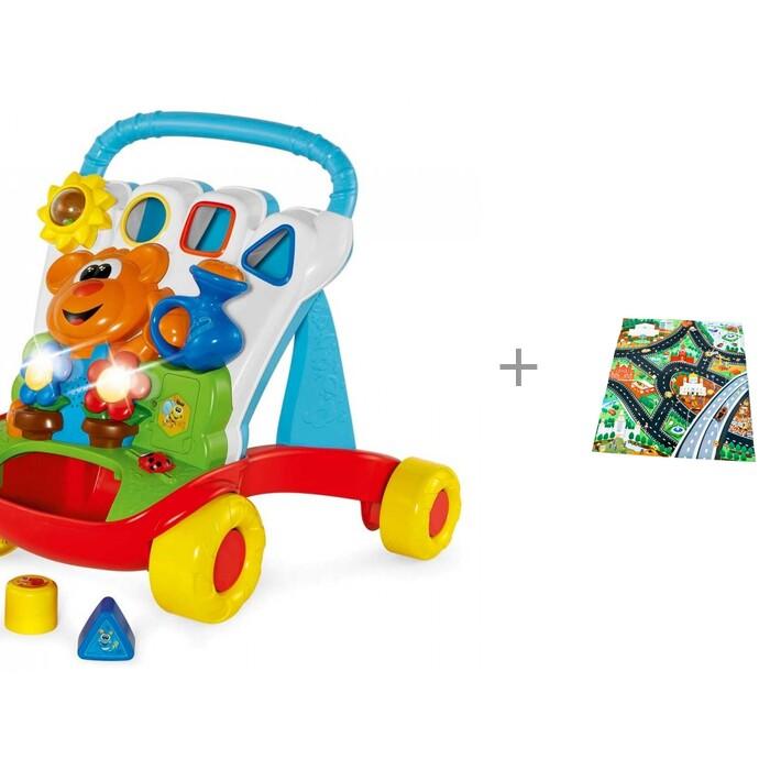 Игровой центр Chicco Каталка Baby Gardener и коврик с машинкой