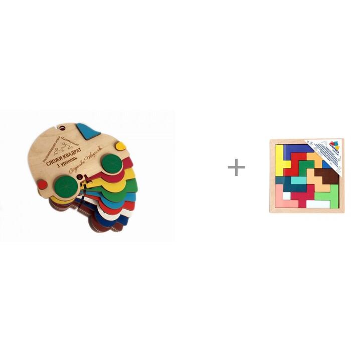 Деревянная игрушка Томик Конструктор Сказки Зайкина избушка 24 детали