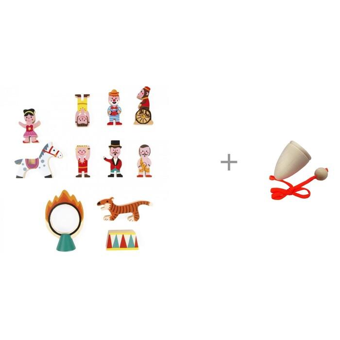 Купить Деревянные игрушки, Деревянная игрушка Janod Маленькие истории Цирк и Поймай мяч 3