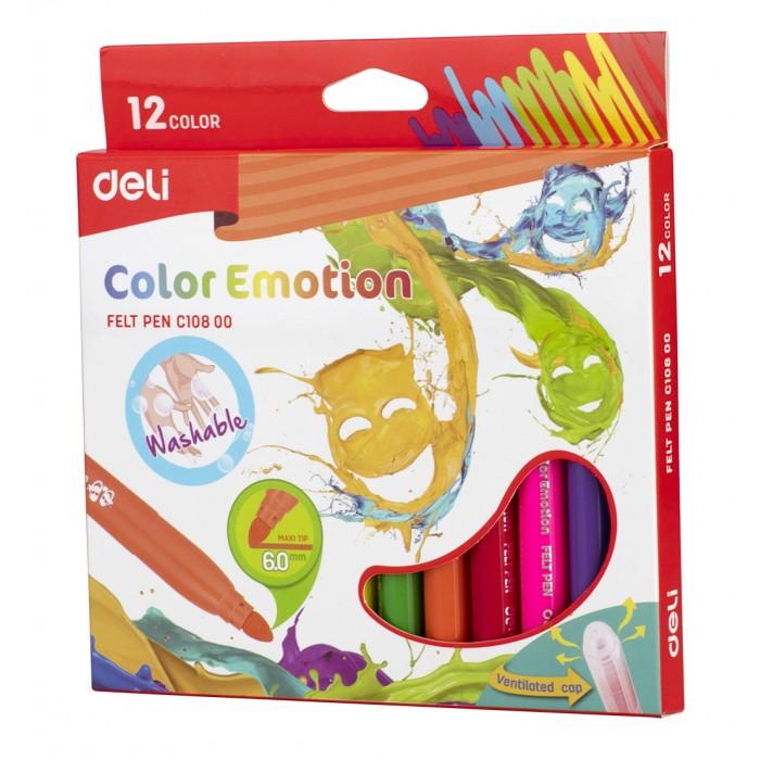 Фломастеры Deli Color Emotion вентилируемый 12 цветов