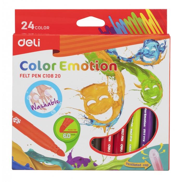 Фломастеры Deli Color Emotion вентилируемый 24 цвета