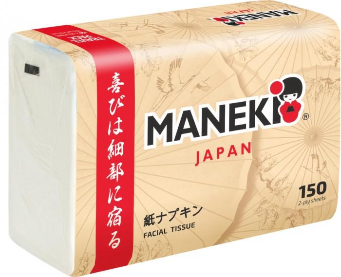 Салфетки Maneki бумажные Kabi 2 слоя 150 шт.