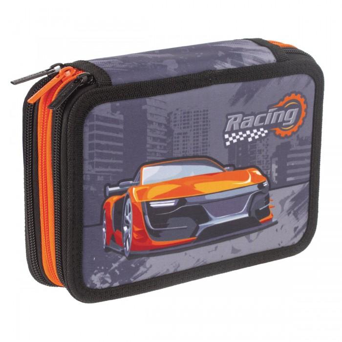Купить Пеналы, Brauberg Пенал Racing 3 отделения 20.5x14 см