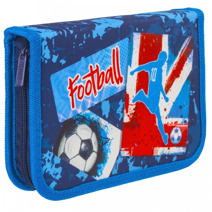 Купить Пеналы, Brauberg Пенал с наполнением Football 1 отделение 21x14 см (24 предмета)