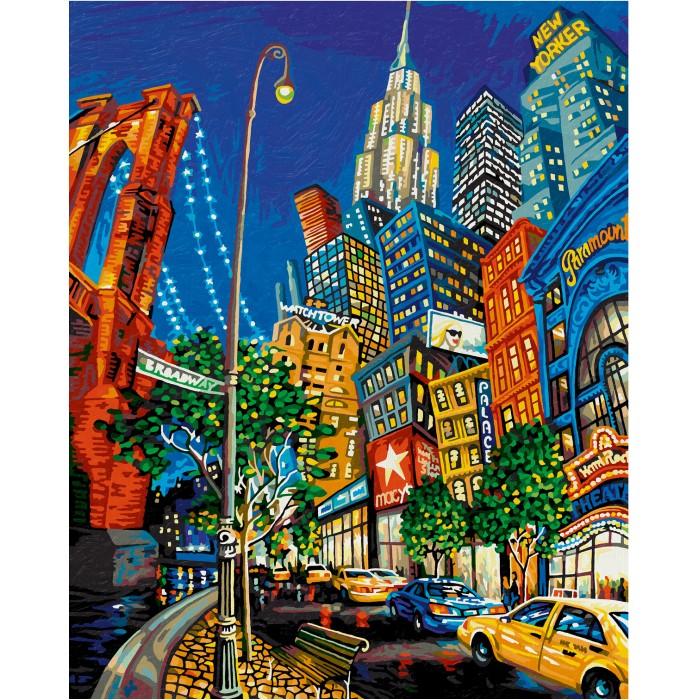 Купить Картины по номерам, Schipper Картина по номерам Нью Йорк Большое яблоко 50х40 см