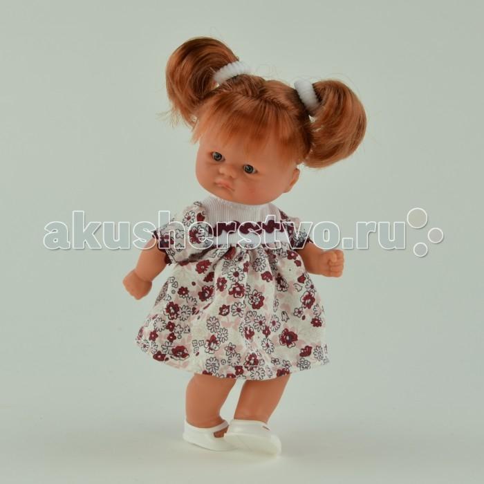 ASI Кукла пупсик 20 см 113240Кукла пупсик 20 см 113240Пупсик, размер 20 см, выполнен из винила, рыжие волосы собраны в два хвостика, в платье в бордовый цветочек, в красивой подарочной коробке.<br>