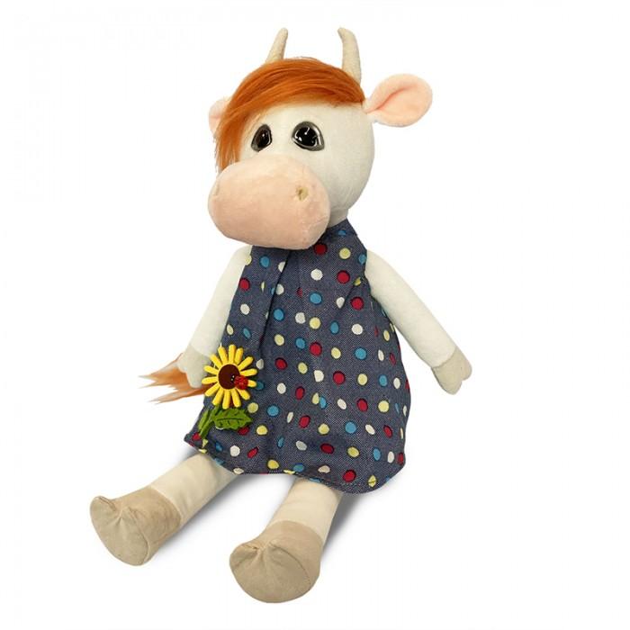 Мягкая игрушка Maxitoys Коровка Глаша в платье с цветочком 28 см