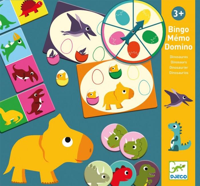 Картинка для Djeco Настольная игра Мемо Динозавры