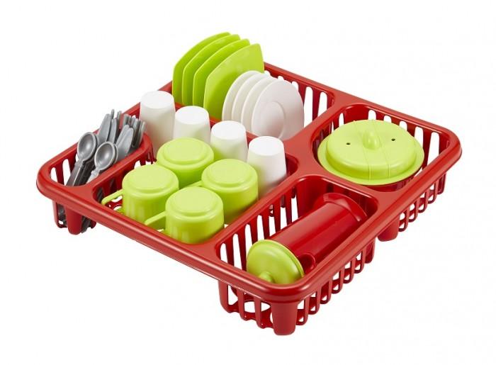 Ecoiffier Большой набор детской посуды в сушилке