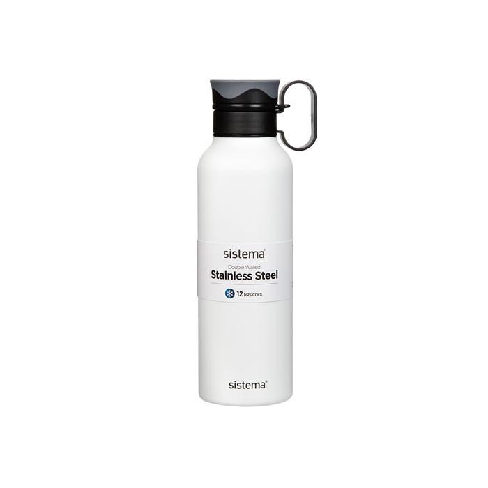 Картинка для Бутылки для воды Sistema Стальная бутылка с петелькой 600 мл