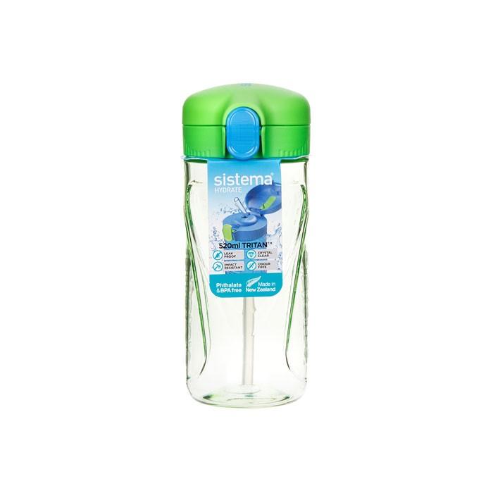 Картинка для Бутылки для воды Sistema Бутылка для воды с трубочкой тритан 520 мл