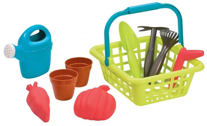 Картинка для Игрушки в песочницу Ecoiffier Детская садовая корзина с аксессуарами