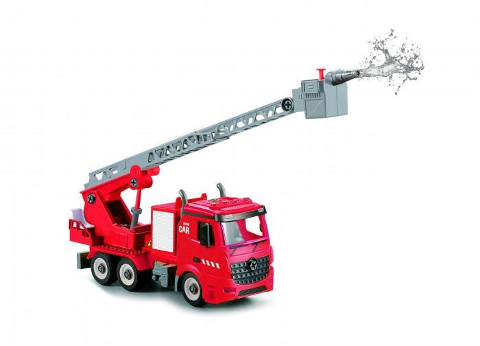 Конструктор Funky Toys Пожарная машина фрикционная 1:12 свет, звук, вода FT61114