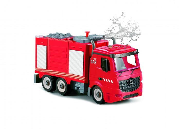 Конструктор Funky Toys Пожарная машина фрикционная 1:12 свет, звук, вода FT61115