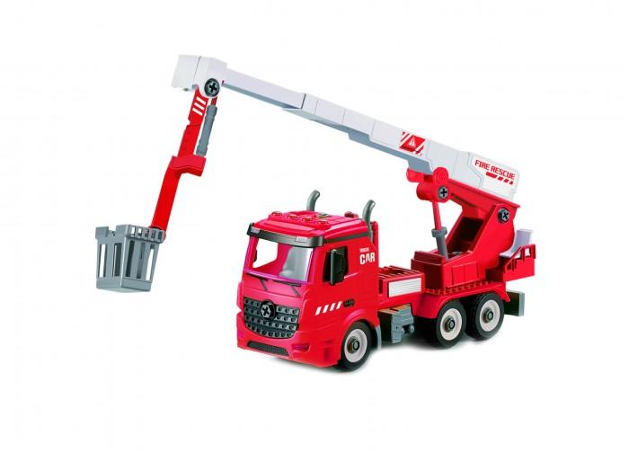Конструктор Funky Toys Пожарная машина фрикционная 1:12 свет, звук FT61113