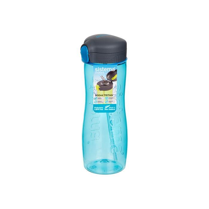 Картинка для Бутылки для воды Sistema Бутылка для воды с трубочкой тритан 800 мл