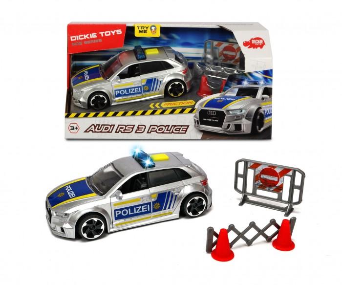 Купить Машины, Dickie Полицейская машинка Audi RS3 фрикционная с аксессуарами 15 см
