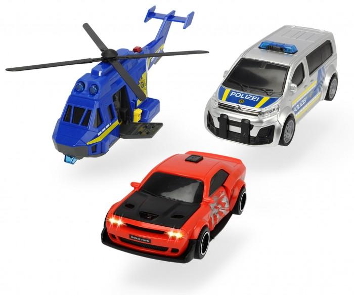 Машины Dickie Набор Полицейская погоня: вертолет и машинки 2 шт.