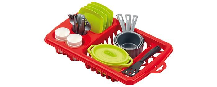 Купить Игровые наборы, Ecoiffier Набор детской посуды в сушилке