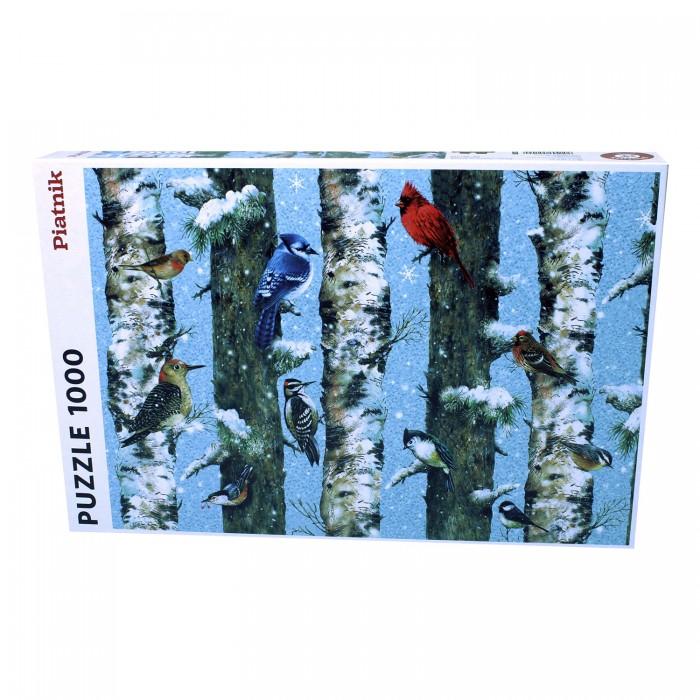 Купить Пазлы, Piatnik Пазл Рождественские птицы (1000 деталей)