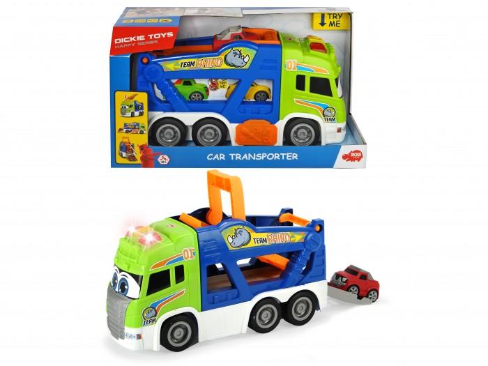 Машины Dickie Транспортер Happy Scania 42 см платформой для выгрузки и машинкой