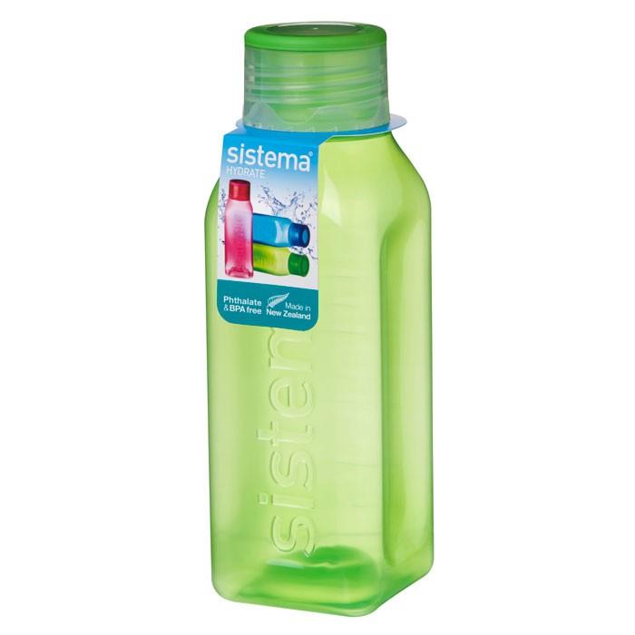 Картинка для Бутылки для воды Sistema Бутылка квадратная 475 мл