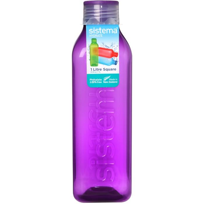 Картинка для Бутылки для воды Sistema Бутылка квадратная 1 л