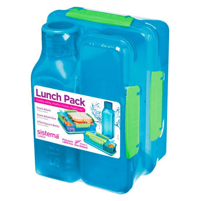 Купить Контейнеры для еды, Sistema Набор Lunch: 2 контейнера и бутылка 475 мл