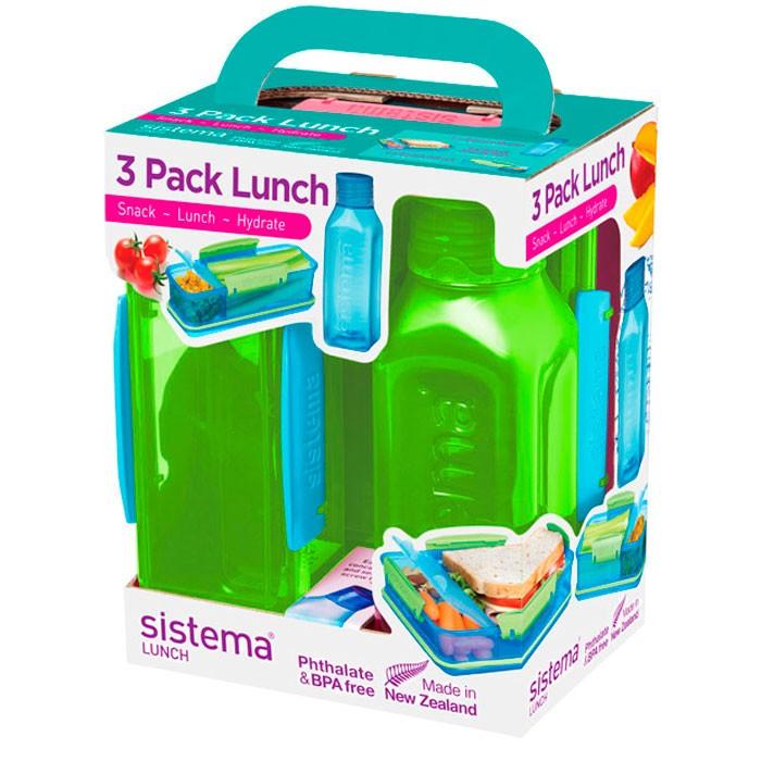 Картинка для Контейнеры для еды Sistema Набор Lunch: 2 контейнера и бутылка 475 мл 1595