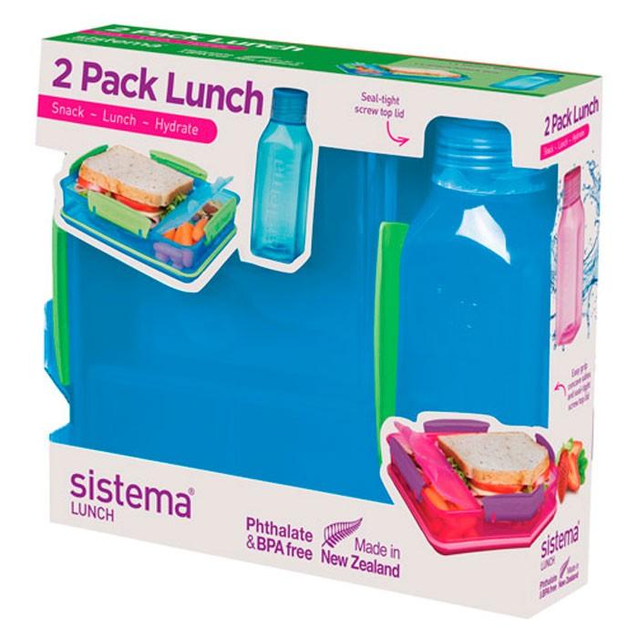 Фото - Контейнеры для еды Sistema Набор Lunch: контейнер и бутылка 475 мл контейнеры для еды sistema контейнер квадратный 591 мл