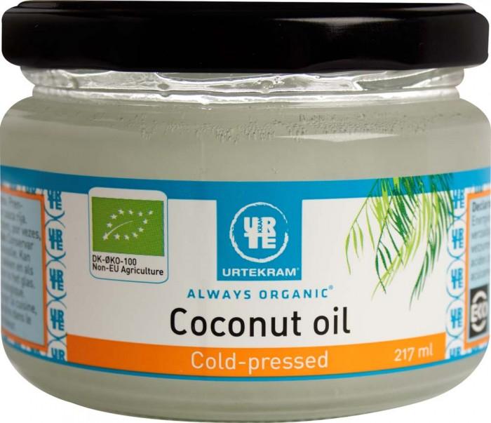 Правильное питание Urtekram Кокосовое масло холодного отжима нерафинированное органическое 217 мл кокосовое масло холодного отжима мини 100 мл