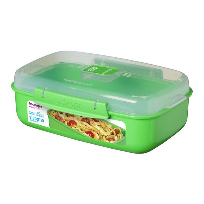 Картинка для Контейнеры для еды Sistema Microwave Контейнер прямоугольный 1,25 л 21114