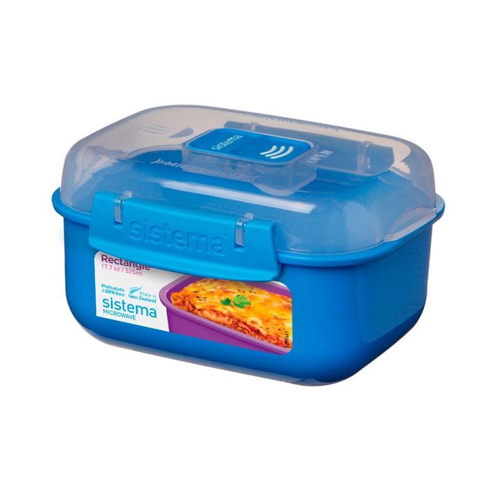 Картинка для Контейнеры для еды Sistema Microwave Контейнер прямоугольный 525 мл 21119