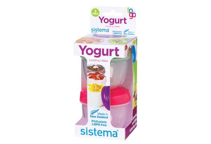 Картинка для Контейнеры для еды Sistema To-Go Йогурт 150 мл 2 шт.