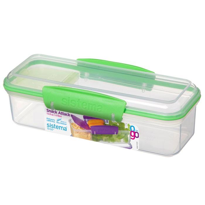 Фото - Контейнеры для еды Sistema To-Go Контейнер с разделителем 410 мл контейнеры для еды sistema контейнер квадратный 591 мл