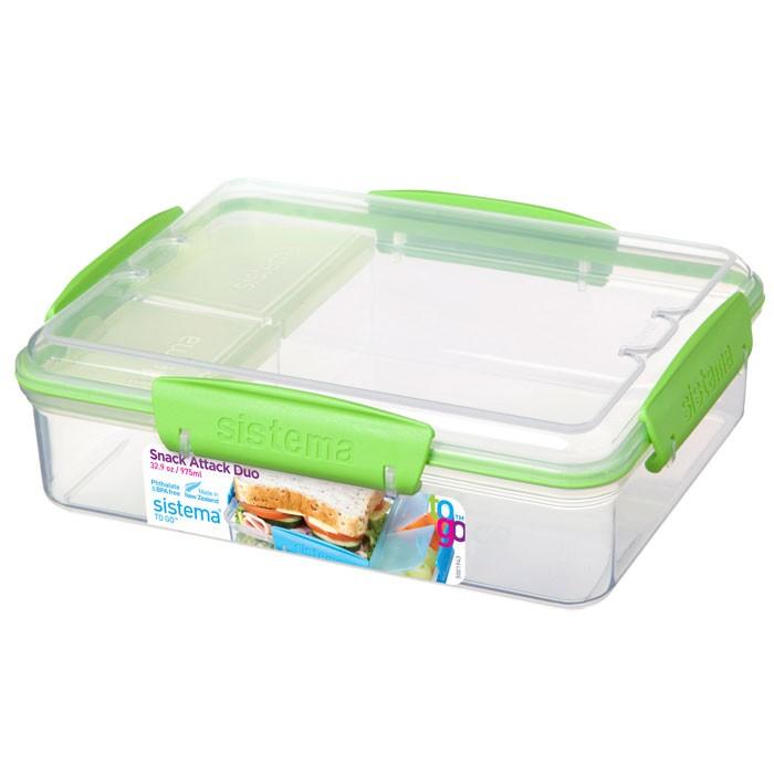 Фото - Контейнеры для еды Sistema To-Go Контейнер с разделителями 975 мл контейнеры для еды sistema контейнер квадратный 591 мл