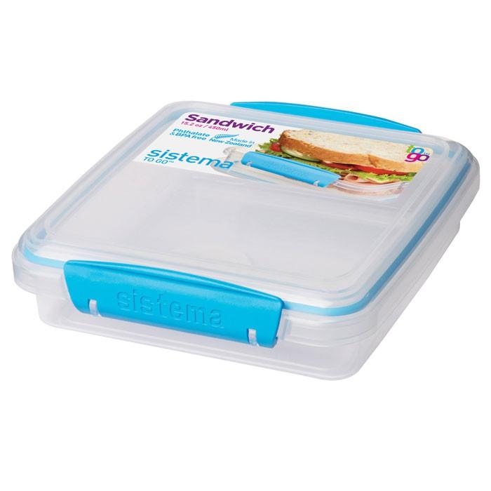 Контейнеры для еды Sistema To-Go Контейнер для сэндвичей 450 мл